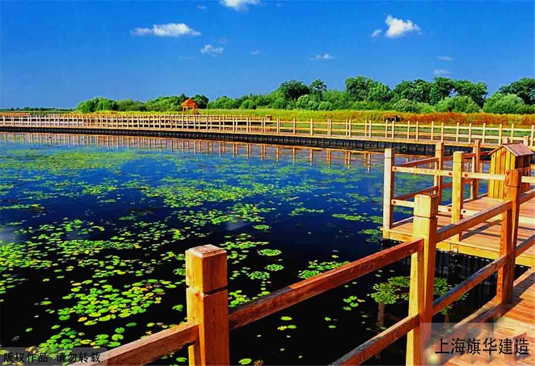 上海华岛_旗华-黑龙江抚远黑瞎子岛湿地公园(中俄交界)2000米浮桥